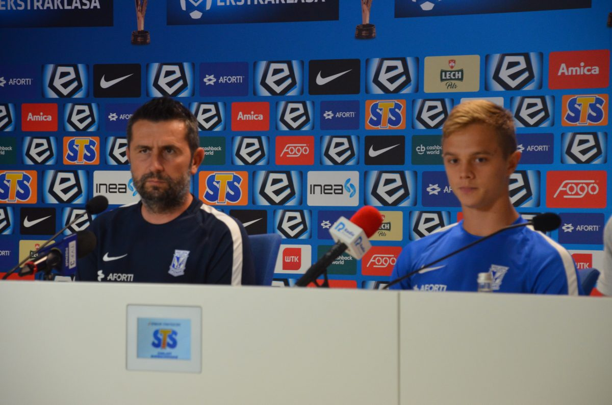 Trener Nenad Bjelica i Robert Gumny przed rewanżem z Haugesund